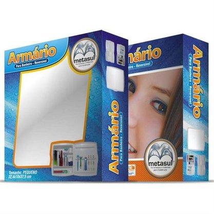 Espelheira Para Banheiro Com Armário Pequeno Metasul