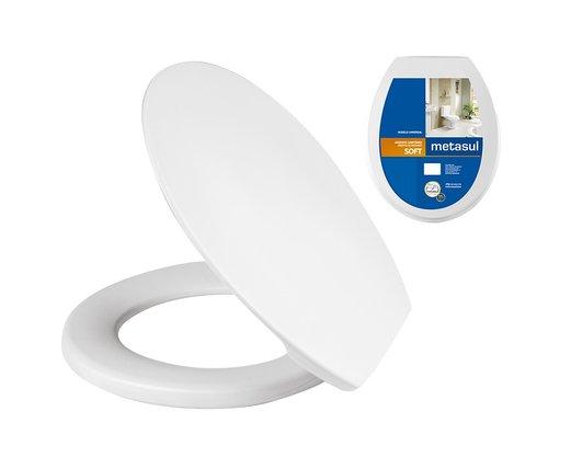 Assento Sanitário Plástico Soft Metasul