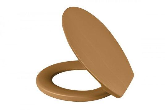 Assento Sanitário Plástico Soft Caramelo Metasul