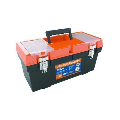 Caixa de Ferramentas Fecho Articulado de Metal 50x22x24Cm