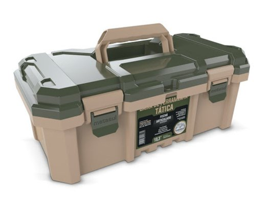 Caixa Para Ferramentas Camper 44x23x18cm Metasul Kit 3 un