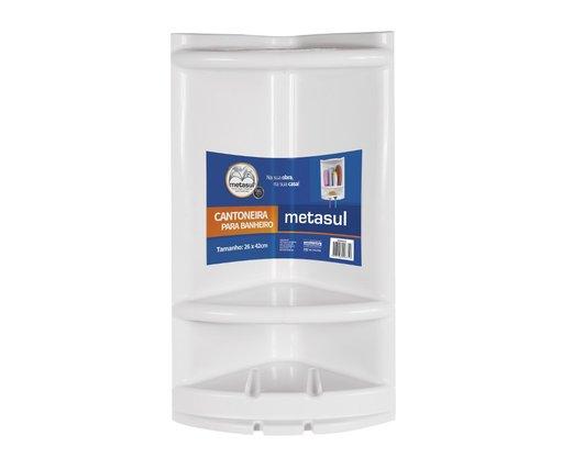 Cantoneira Porta Shampoo Para Banheiro De Plástico Metasul