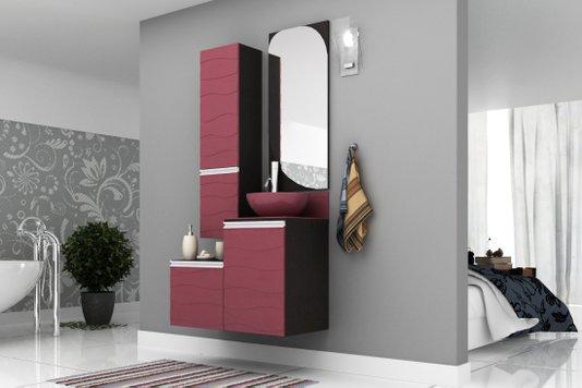 Gabinete Para Banheiro Marsala 90Cm Mazzu Completo