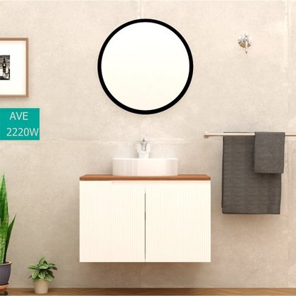 Gabinete Para Banheiro Binario TM 80 Mazzu Completo