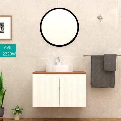 Gabinete Para Banheiro Binario TM 80 Sem Cuba Com Espelheira