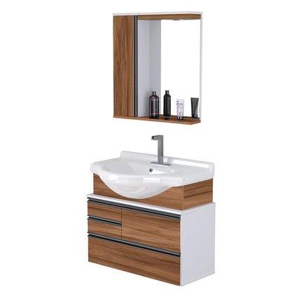 Gabinete Para Banheiro Com Pia De Louça  72,5 Cm Montado