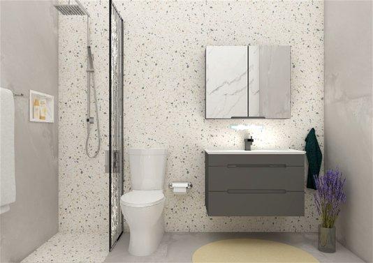 Gabinete Para Banheiro Jazz 80cm Mazzu Completo