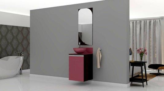 Gabinete Para Banheiro Marsala 45Cm Mazzu