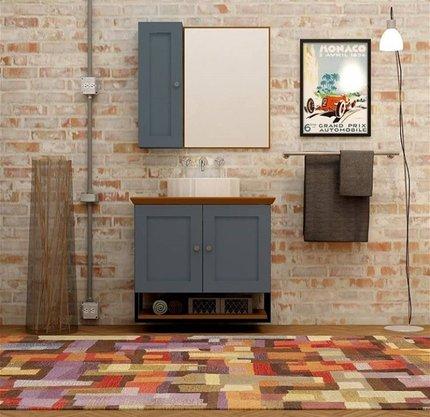 Gabinete Para Banheiro Nordic 80cm Mazzu C/ Espelho Sem Cuba