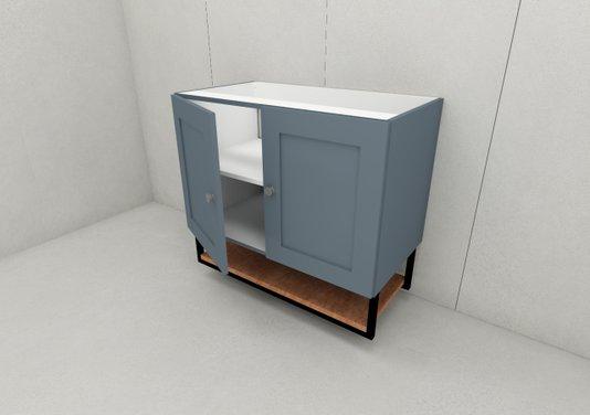 Gabinete Para Banheiro Nordic 80cm Parte De Baixo Sem Tampo