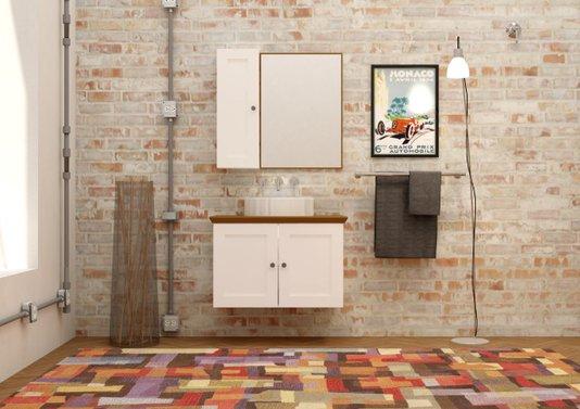 Gabinete Para Banheiro Provence 80cm Mazzu Completo