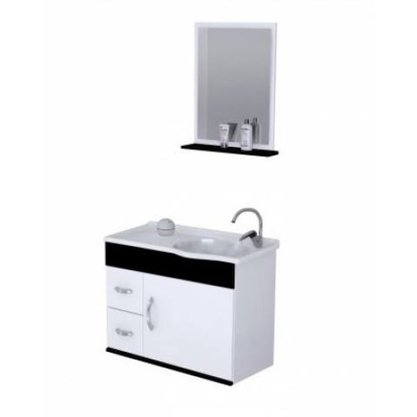 Gabinete Para Banheiro Siena 55cm Ajrorato Completo