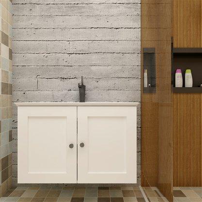Gabinete Para Banheiro Slim 80cm Parte De Baixo Com Pia