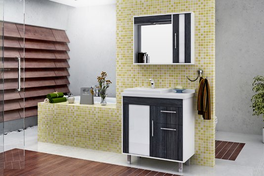 Gabinete Para Banheiro Toscana 80CM Mazzu Completo