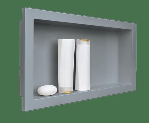 Nicho Para Banheiro Embutir Cinza Urbano 30x60 Metasul