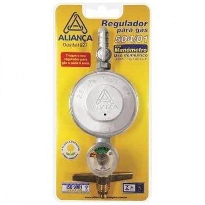 Registro Regulador Válvula De Gás Com Medidor Aliança