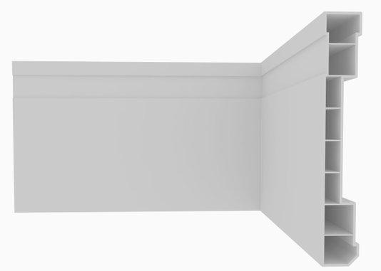 Rodapé de PVC Plasbil Nobre 10CM Branco Barra 2,4M