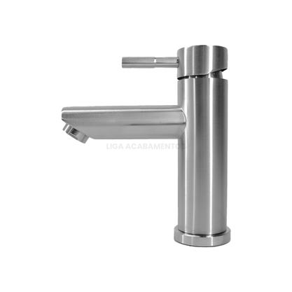 Torneira Monocomando Para Banheiro Aço Inox F2001 Redonda