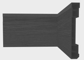 Rodapé de PVC Plasbil Nobre 10CM Preto Relevo Barra 2,4M